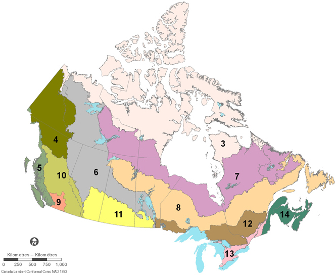 Map Of Canada 5 Great Lakes.Fig 1 Figure 1 Map Of Bird Conservation Regions Bcr In Southern